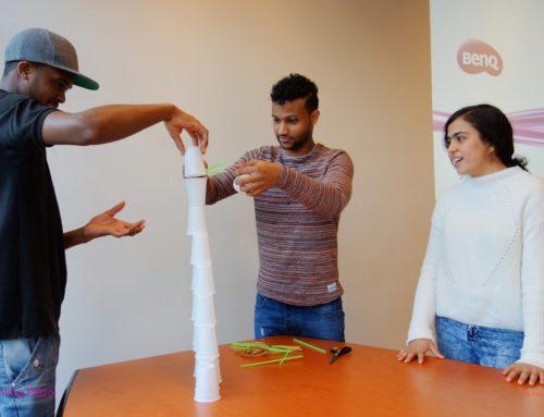 Jonge nieuwkomers oefenen samenwerken & solliciteren @Taal & toekomst