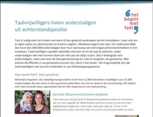 Position paper gemeenten: Taalcoaching is onmisbaar!