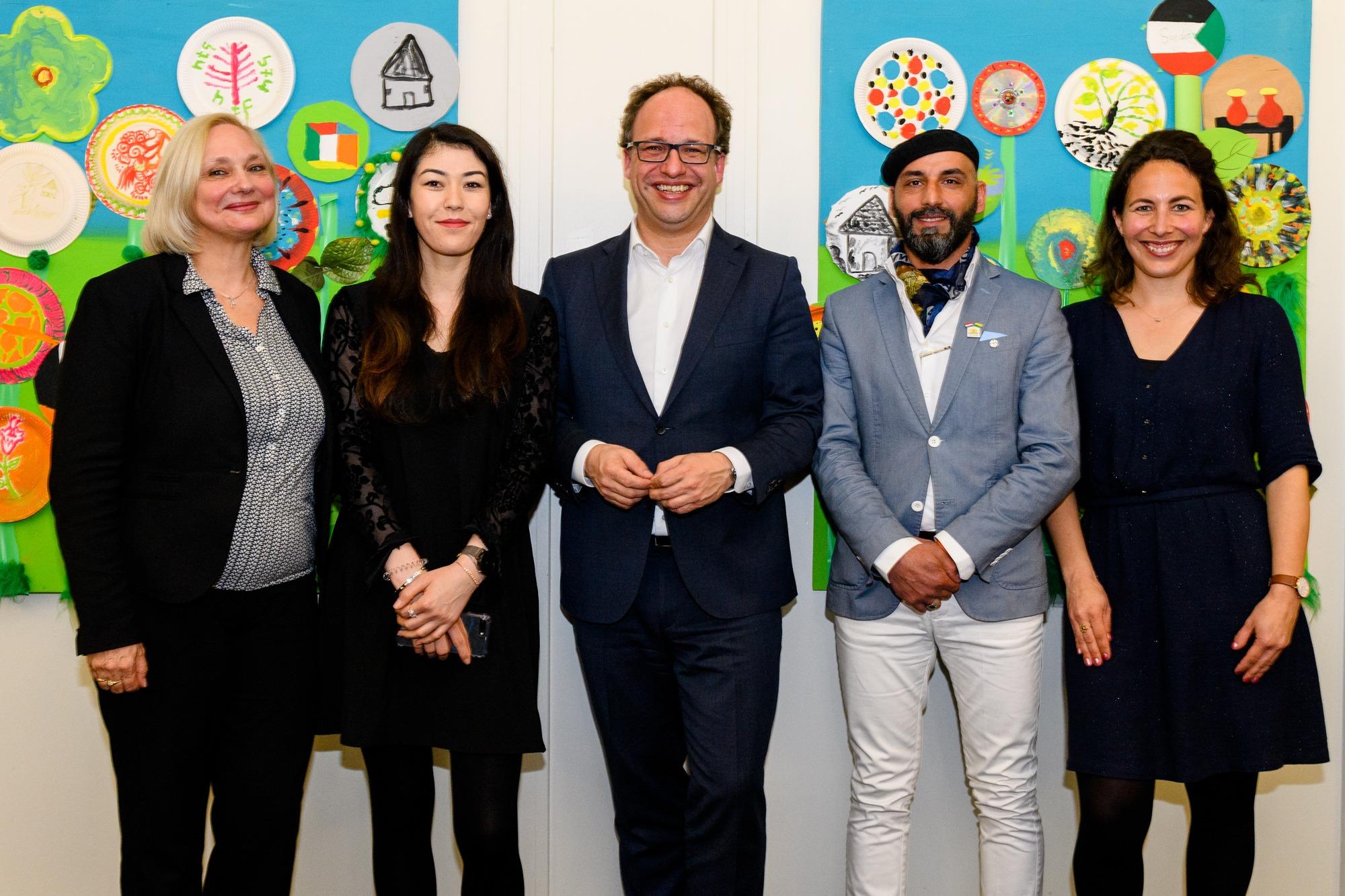Ingrid Suasso, Raihanna Rahmatulah, Wouter Koolmees, Allaa Dulaimi, Sylvia de Groot Heupner